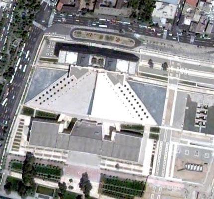 تصویر هوایی از مجلس شورای اسلامی - تهران ، بهارستان
