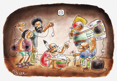 نقاشی صرفه جویی در مصرف سوخت سه کاریکاتور برتر کشور درباره صرفه جویی در مصرف برق