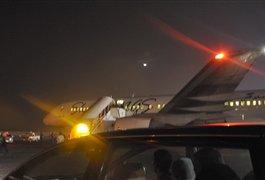 هواپیمای جنجالی در فرودگاه کیش - دقایقی بعد از فرود