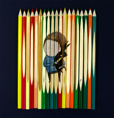 عکس نقاشی با مداد رنگی
