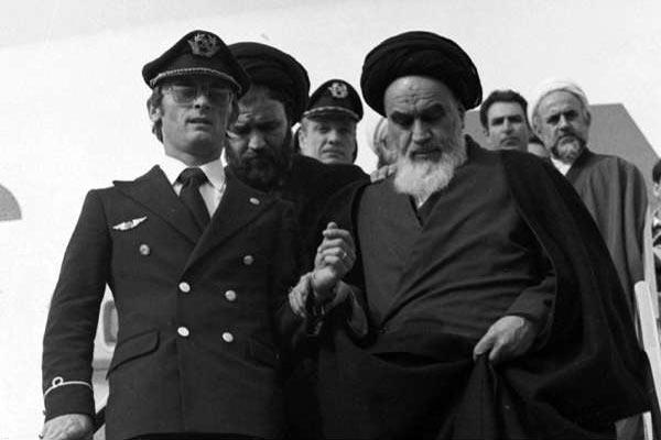 عکس ورود امام خمینی به ایران