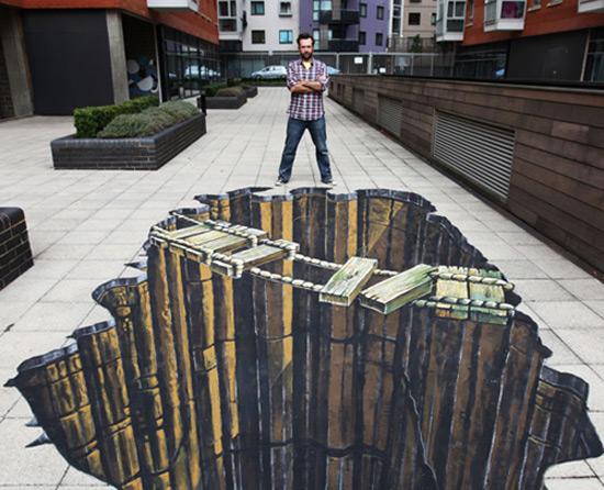 تصاویر نقاشی کعبه نقاشی های 3 بعدی در خیابان (عکس)
