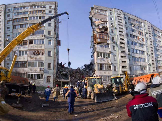 ریزش یک ساختمان