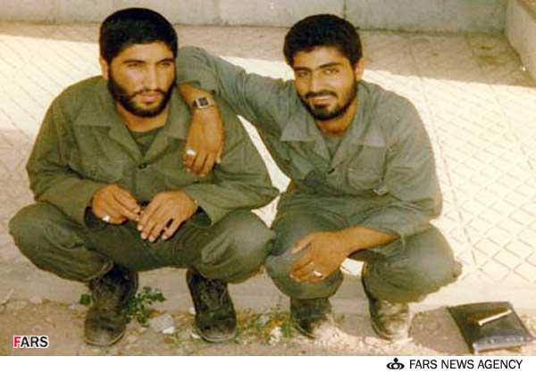 سردار قاسم سلیمانی و سردار شهید کاظمی در دوران دفاع مقدس