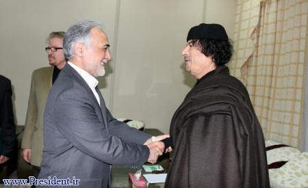 دیدار معاون وقت احمدی نژاد با قذافی