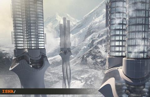 برج آب هيماليا در ميان كوهستان