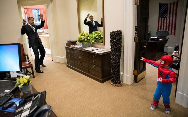 مواجهه اوباما با پسر بچه یکی از کارکنان کاخ سفید