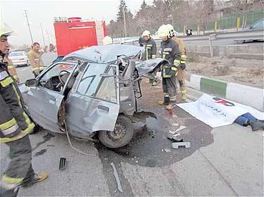 عکس تصادفات تهران
