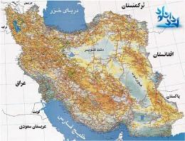 نقشه ی ایران
