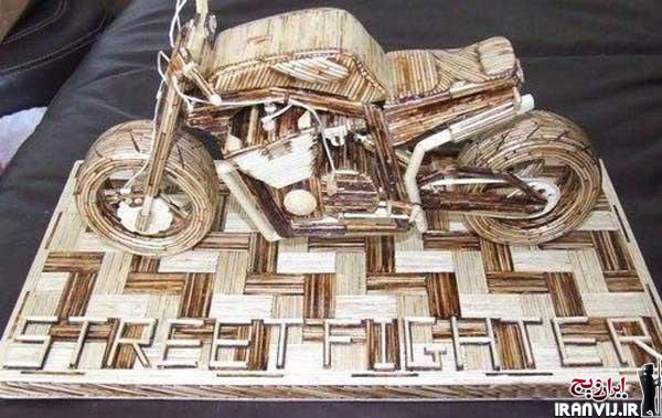 مرد ها هنرنمایی با چوب کبریت (عکس)