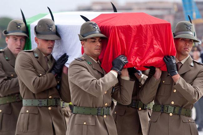 جسد سرباز ایتالیایی