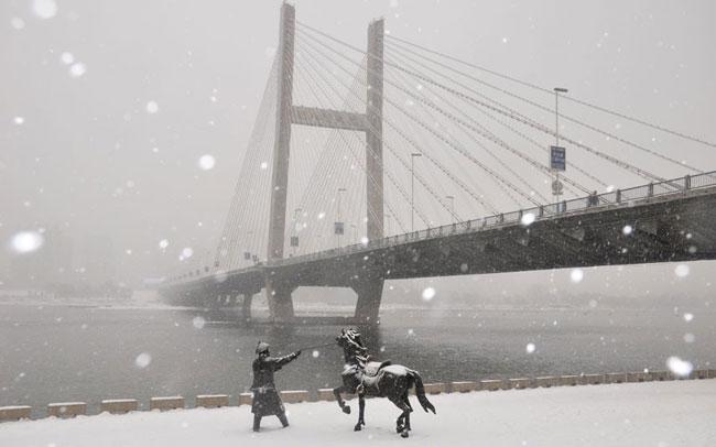 بارش شدید برف در چین