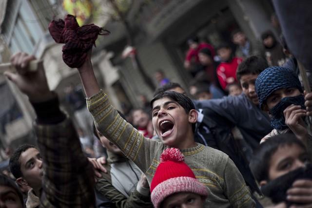 تظاهرات در شهر حلب