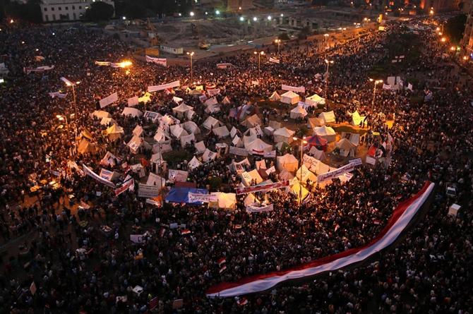 چادرهای مخالفان مرسی