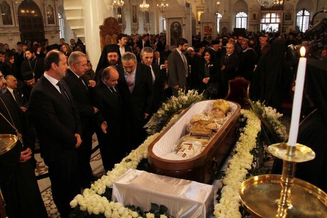 مراسم تشییع یکی از روحانیان ارشد کلیسای ارتدوکس
