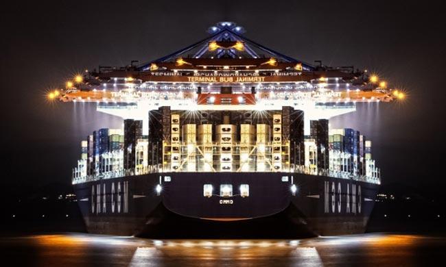 بزرگترین کشتی کانتینر بر