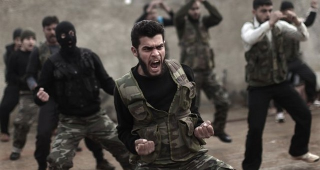 جلسات تمرینی مخالفان مسلح سوریه