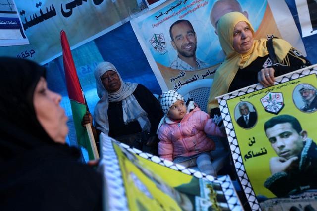 تظاهرات برای آزادی زندانیان فلسطینی
