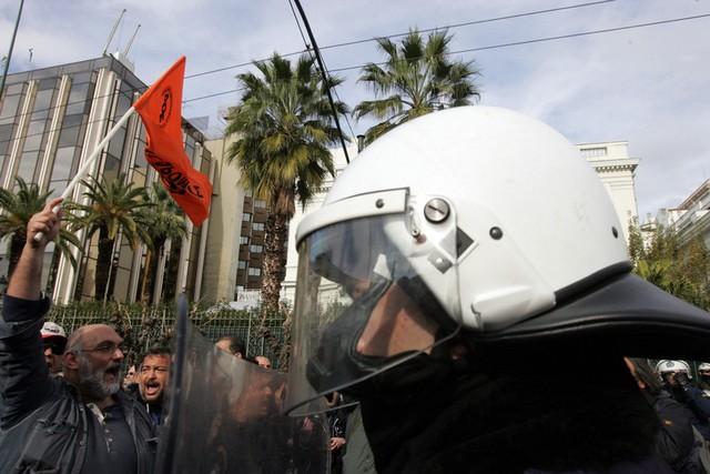 تظاهرات کارگران خدمات عمومی در آتن