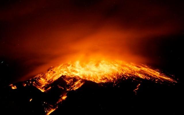 فعالیت کوه آتشفشانی در اکوادور