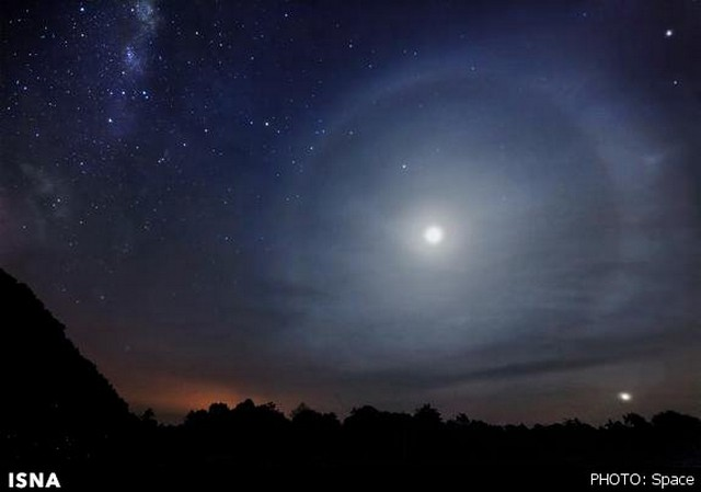 عکس آسمان شب متحرک
