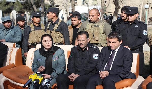 یک زن به فرماندهی پلیس کابل منصوب شد (+عکس)