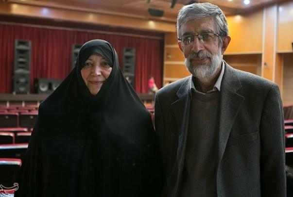 عکس/ حداد عادل و همسرش