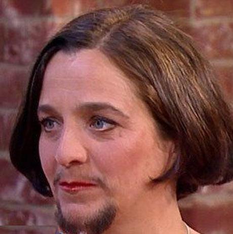 زنی که واقعا ریش دارد