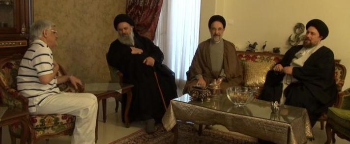 خاتمی و سید حسن خمینی در منزل عارف