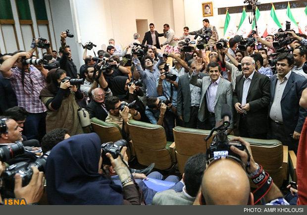 کنفرانس خبری رئیس جمهور منتخب