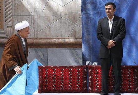 هاشمی و احمدی نژاد