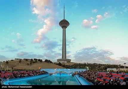 عکسهای طوفان تهران برج میلاد