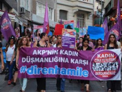 "301001 804 - جنبش ""زنان حامله"" علیه حزب حاکم ترکیه(+عکس)"