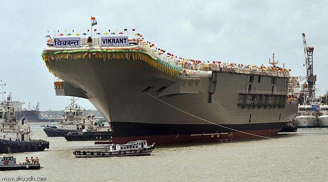 ساخت داخلی اولین ناو هواپیمابر هند با هزینه 5 میلیارد دلاری (+عکس)/ایران با صنعت کشتی سازی خودچه می کند؟