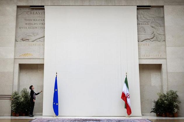 311941 841 - پوشاندن مجسمه مرد برهنه به خاطر حضور هیات ایرانی(+عکس)