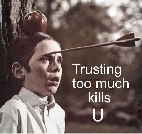 اعتمادبیش ازحد= مرگ