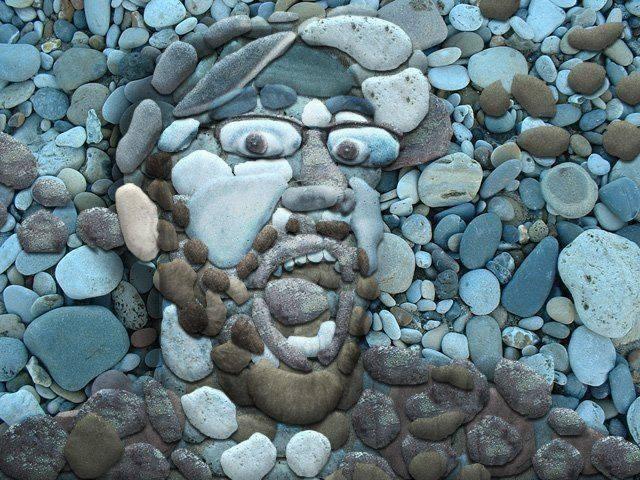هنرنمایی با سنگ
