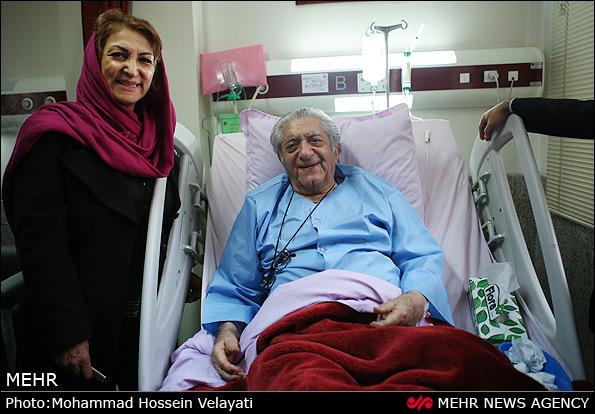 عزت الله انتظامی در بیمارستان عکس
