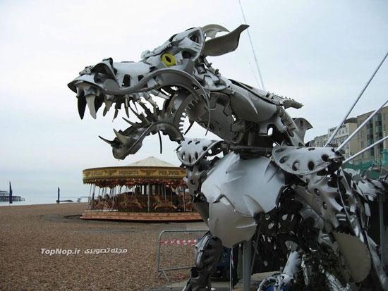 ساخت مجسمه با قال پاق! (+عکس)