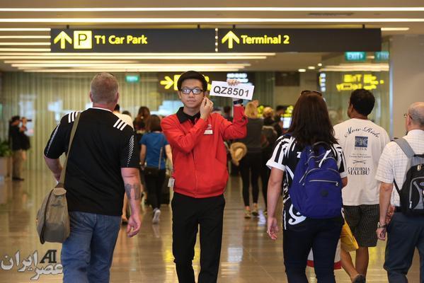 انتظار خانواده ها در فرودگاه مقصد(عکس)