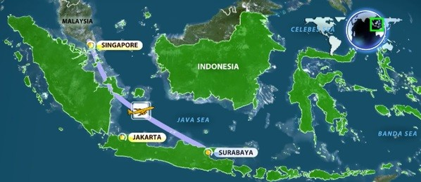 اندونزوی: هواپیمای مالزی در اقیانوس سقوط کرد (به روز می شود)