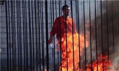 پخش تصاویری از سوزاندن خلبان اردنی توسط داعش
