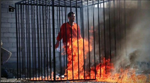 432935 827 داعش خلبان اردنی را زنده زنده سوزاند / تصاویر ۱۸+