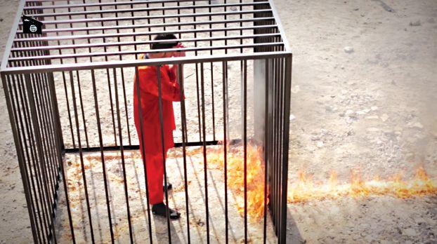 432948 881 داعش خلبان اردنی را زنده زنده سوزاند / تصاویر ۱۸+