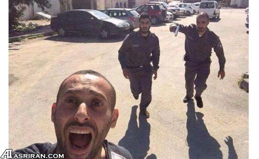 سلفی یک فلسطینی در حال فرار از دست سربازان اسرائیلی (عکس)