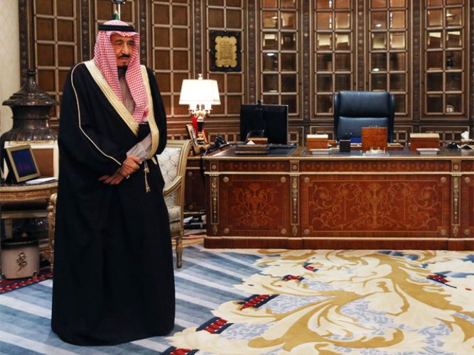دفتر کار پادشاه عربستان سعودی (عکس)