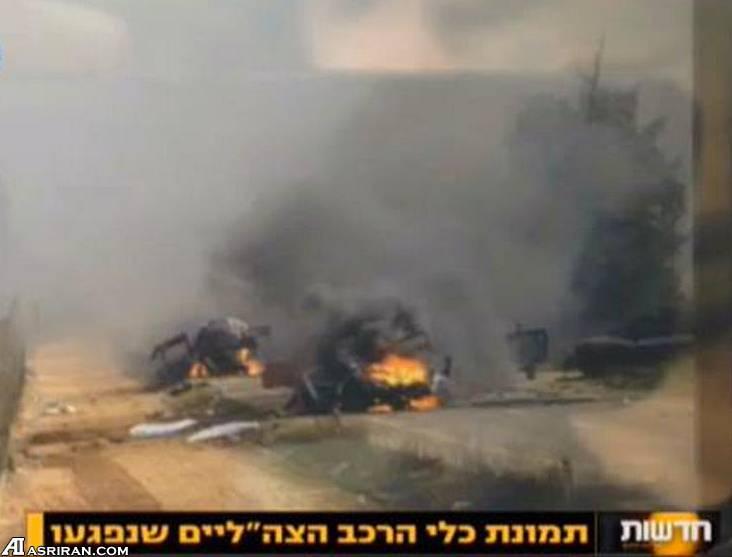 خمپاره شلیک شده حزب الله و نتیجه اش (عکس)