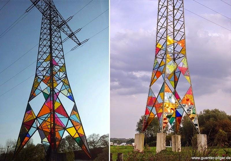 ابتکار با دکل های برق و مخابرات (عکس)