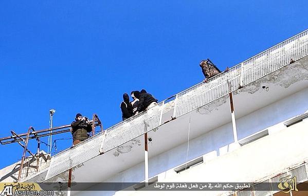 داعش دوباره آدم از بلندی پرت کرد (+عکس)