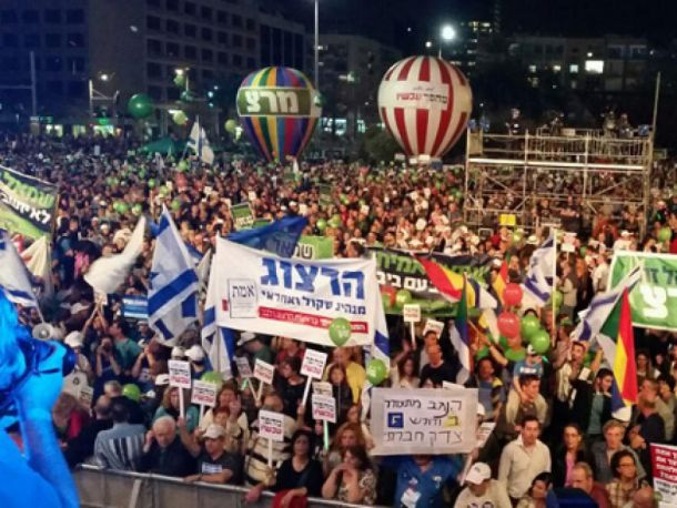 تظاهرات بزرگ اسرائیلی ها علیه نتانیاهو (+عکس)